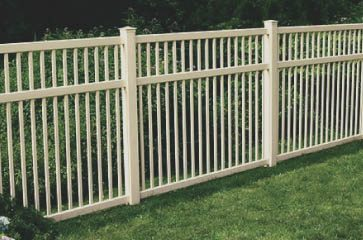 Vinyl is a great product choice when looking to install a fence. It's durable, requires little to no maintenance, and you can choose from several different styles and colors! Vinyl fencing is a great for privacy and security as well. Call us to see how much it will cost to install your new vinyl fence!